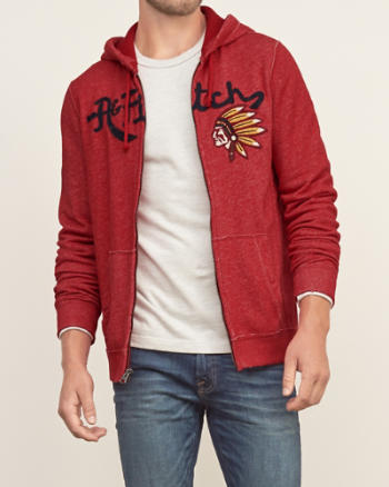 Mens Applique Logo Fleece Jacket