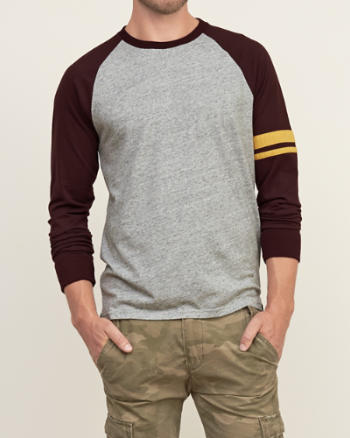 Mens Colorblock Tipped Tee