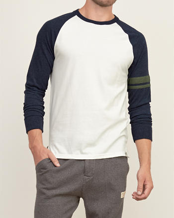 ANF Colorblock Tipped Tee