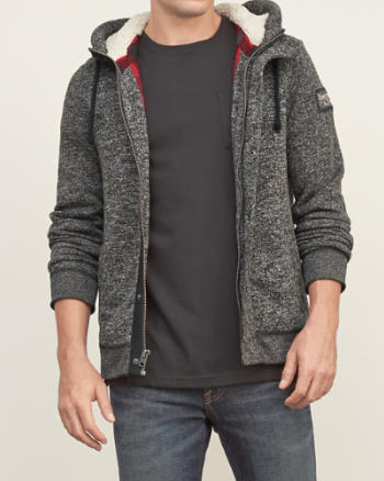 Mens Contrast Interior Fleece Jacket