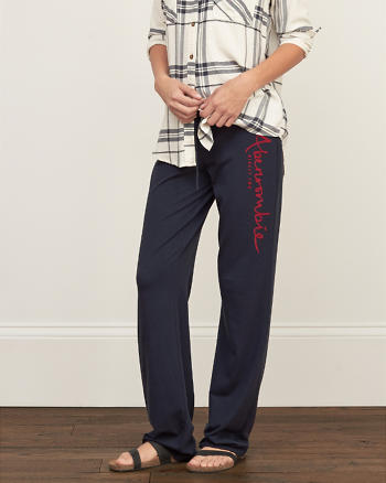 ANF A&F Flare Graphic Sweatpants