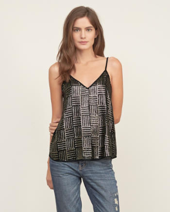 Womens Sequin Cami