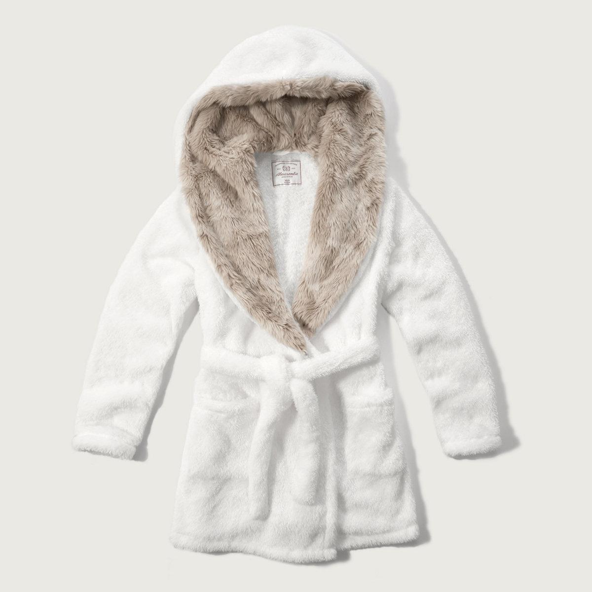 Hooded Faux Fur Robe