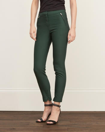 Womens Zipper Slim Pants