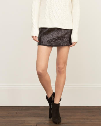 Womens Sequin Mini Skirt