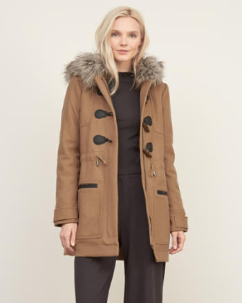 Womens Wool Duffle Jacket