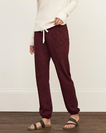 ANF A&F Pattern Banded Sweatpants
