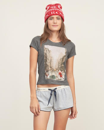 Womens Snow Graphic Tee