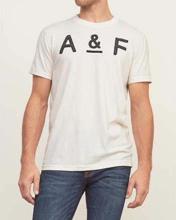 ANF Applique Logo Graphic Tee