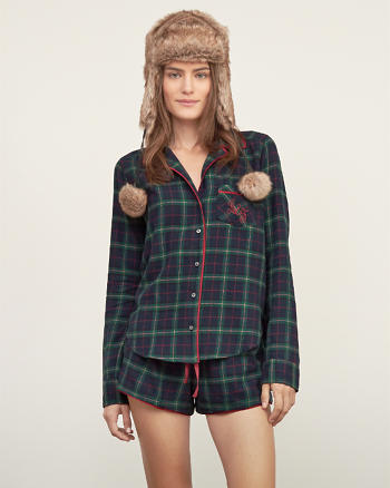 ANF Patterned Sleep Shirt