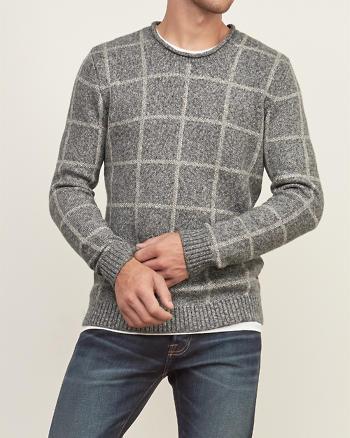 ANF Plaid Crew Sweater