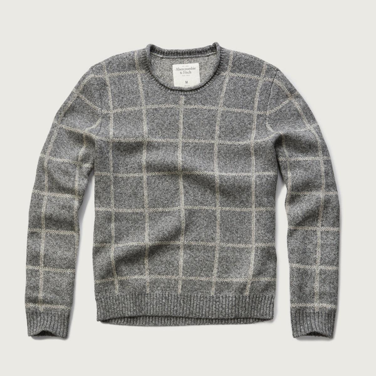 Plaid Crew Sweater