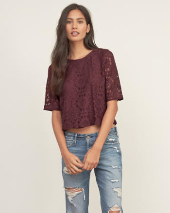 Womens Lace Easy Blouse