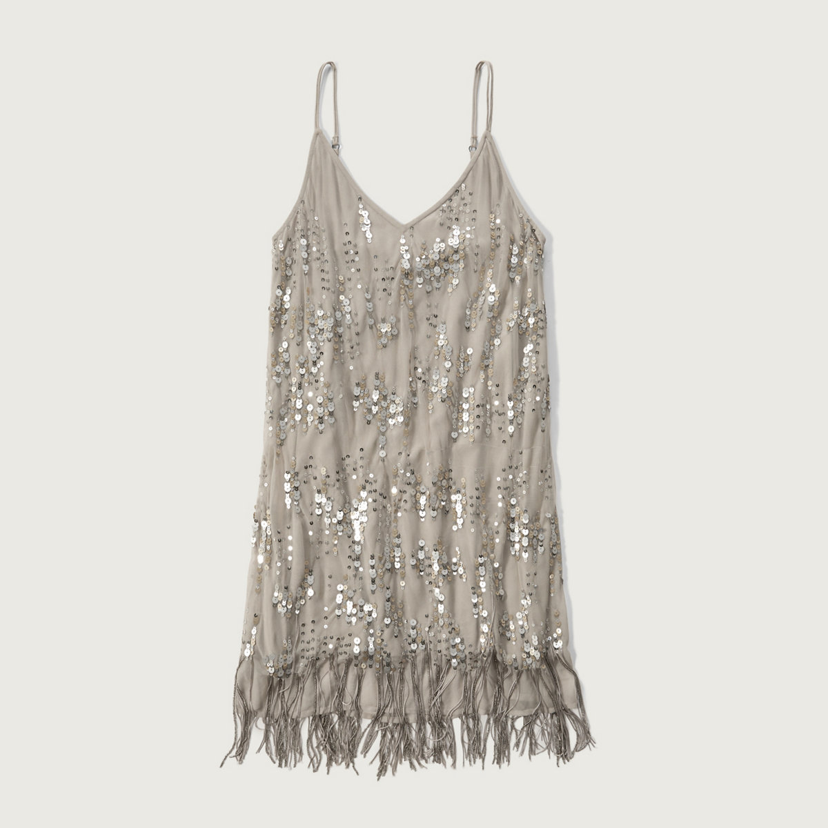 Sequin Fringe Slip dress