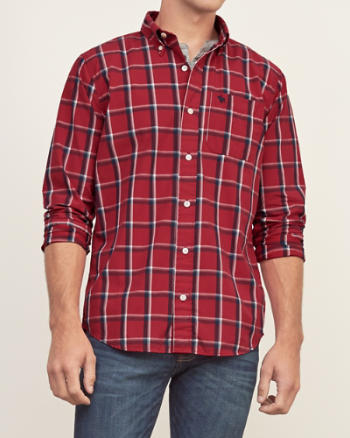 Mens Classic Fit Plaid Shirt