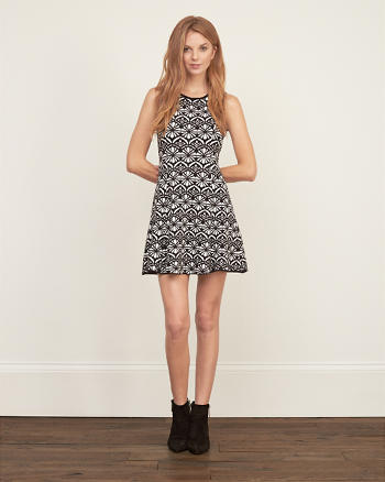 ANF Patterned Flare Dress