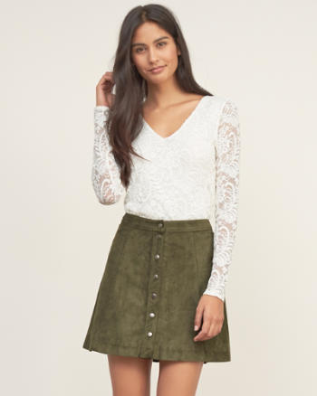 ANF Lace Stretch Top