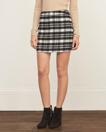 Womens Plaid A-line Skirt
