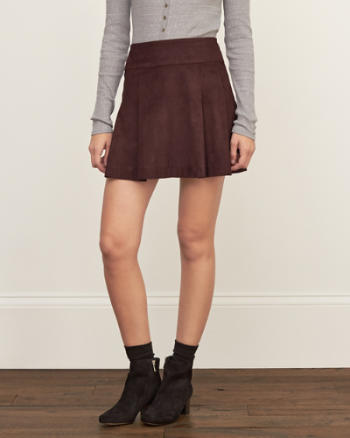 Womens Pleated Skater Skirt