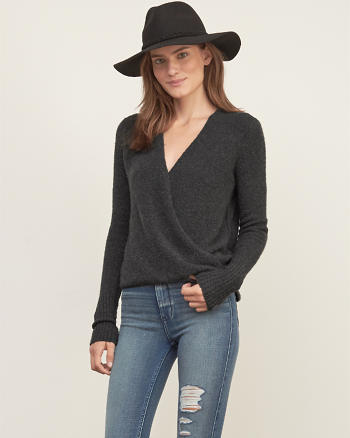 ANF Wrap Front Sweater