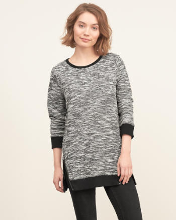 Womens Side-zip Tunic Sweatshirt