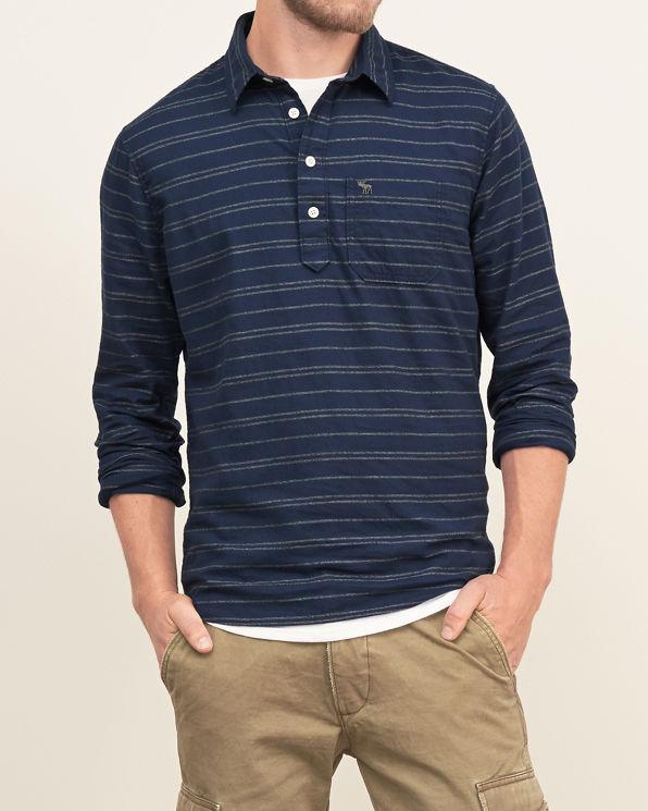 Mens stripe pullover shirt mens tops for Mens long sleeve pullover shirts