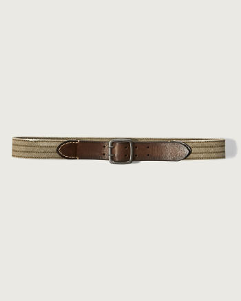 Mens Mixed Fabric Belt