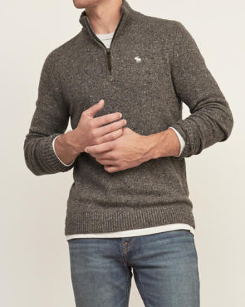 Mens Iconic Mockneck Sweater