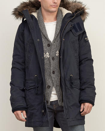 ANF Sherpa-lined Premium Fishtail Parka