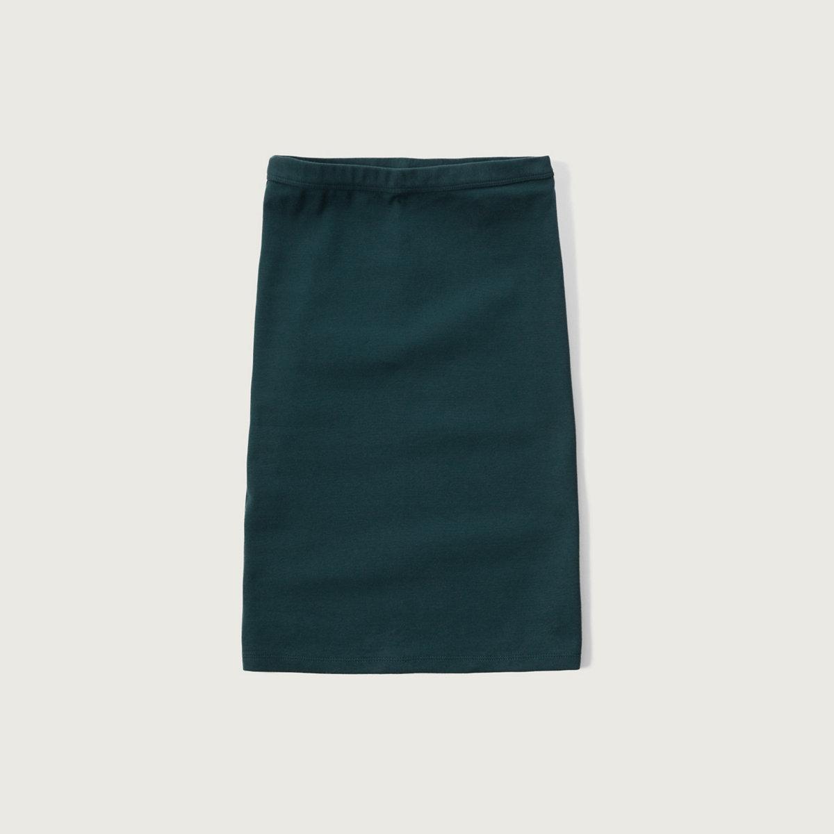 Stretch Midi Skirt