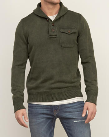 Mens Utility Shawl Sweater
