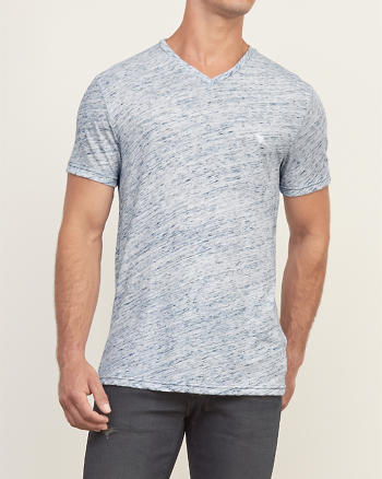 ANF Blue Texture Tee