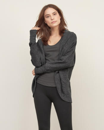 Womens Cocoon Open Sweatshirt