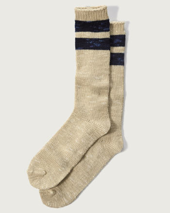 Mens A&F Patterned Camp Socks