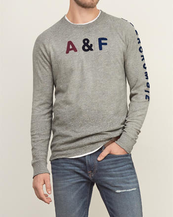 ANF Distressed Long-sleeve Graphic Tee