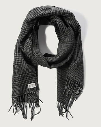 ANF Plaid Fringe Scarf