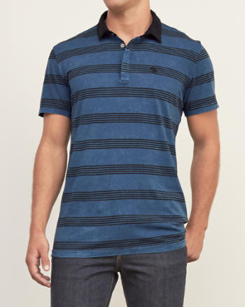 Mens Patterned Polo