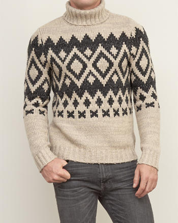 ANF Patterned Turtleneck Sweater