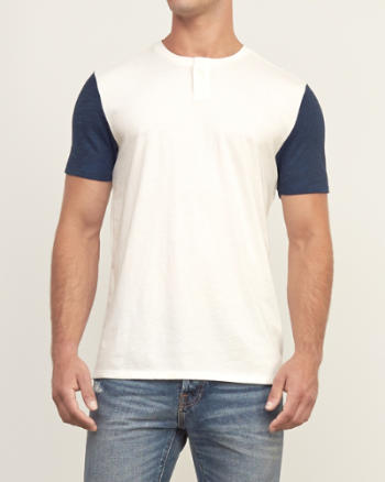 ANF Contrast Sleeve Henley