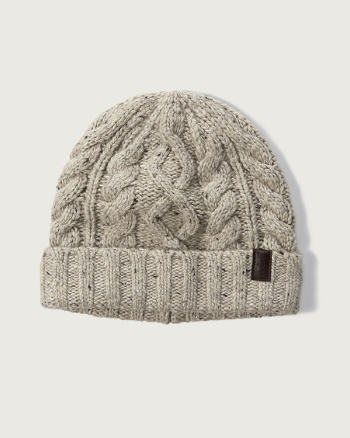 Mens Foldover Cable Beanie