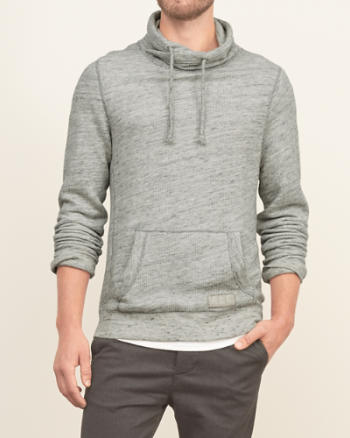 Mens Crossover Neck Fleece Sweatshirt