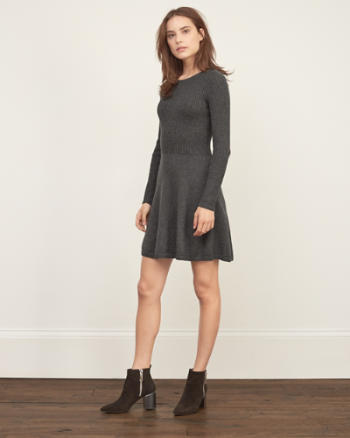 Womens Ribbed Sweater Dress
