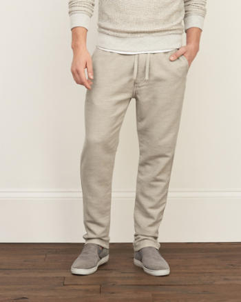 Mens A&F Pull-on Chino Joggers