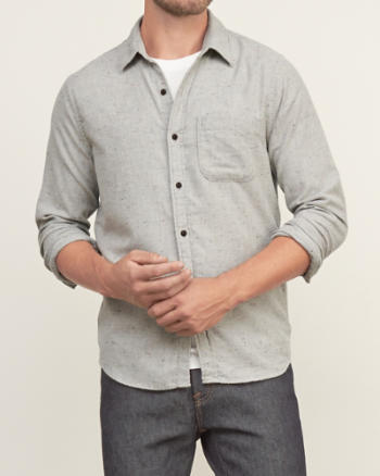 Mens Textured Shirt