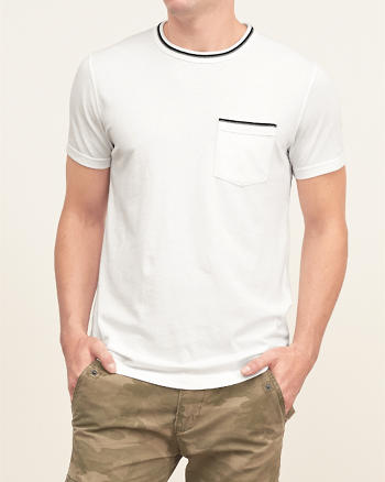 ANF Tipped Pocket Tee