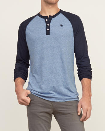 ANF Colorblock Baseball Henley