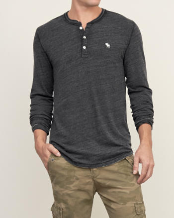 Mens Iconic Burnout Henley