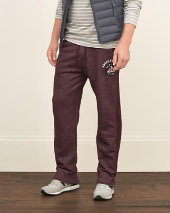 Mens A&F Applique Logo Sweatpants