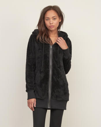 Womens Long Sherpa Tunic