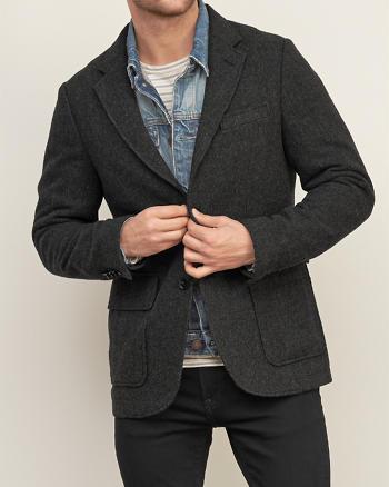 ANF Classic Wool-blend Blazer